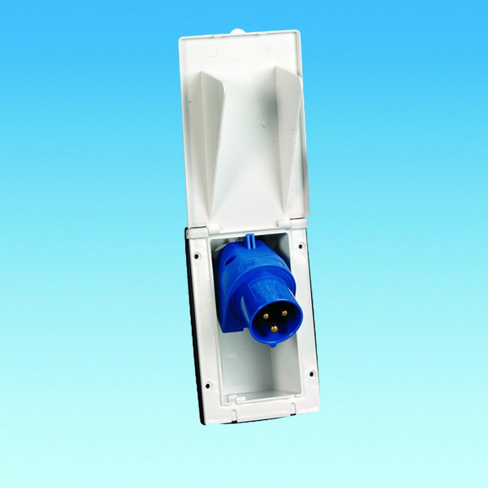 flush fitting 230v rectangular inlet the caravan. Black Bedroom Furniture Sets. Home Design Ideas