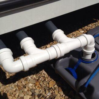 Triple-caravan-waste-water-outlet