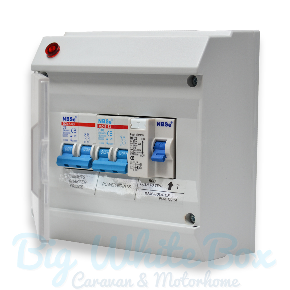 Deluxe consumer unit fuse box the caravan accessory store