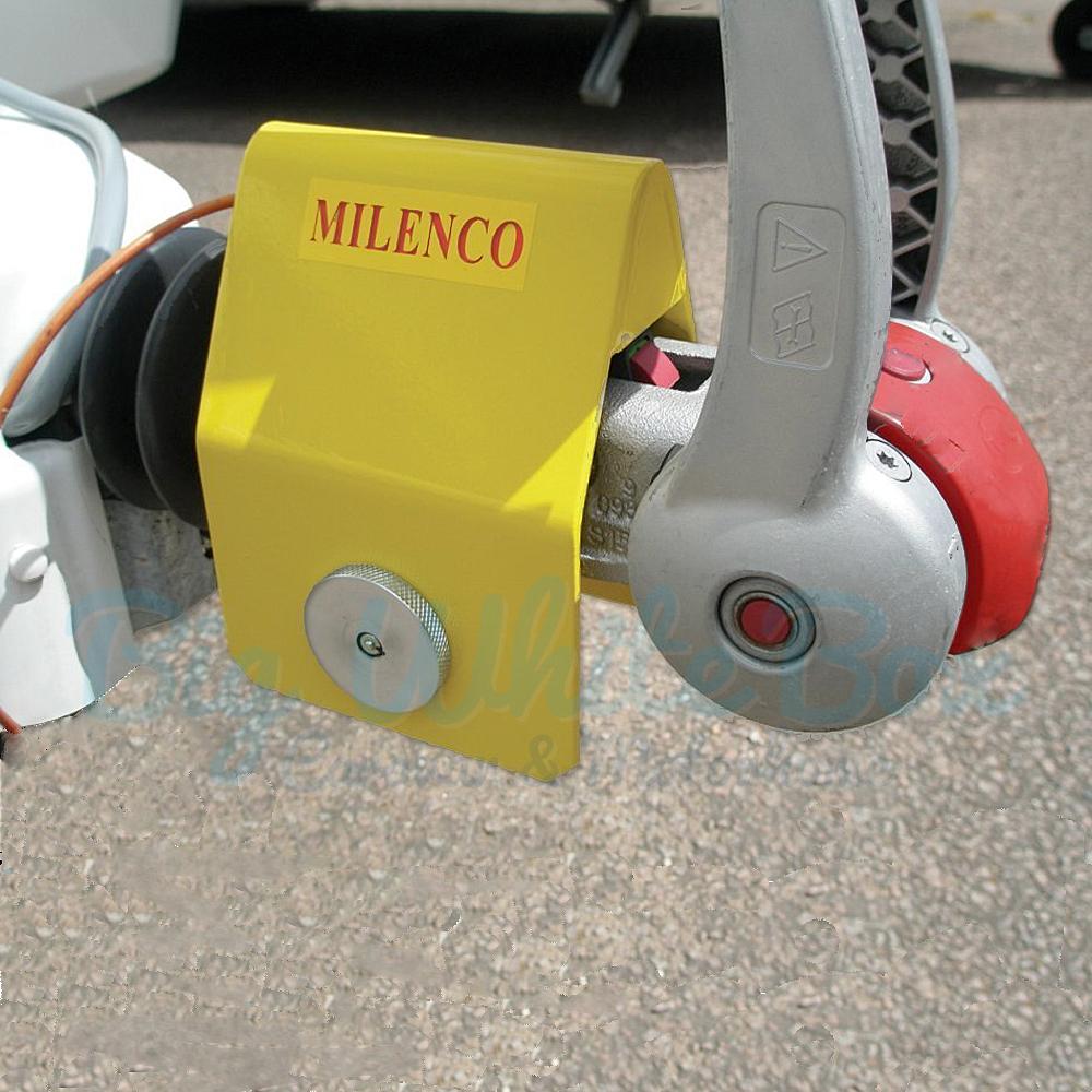 milenco aks 3004 heavy duty alko hitch lock big white box. Black Bedroom Furniture Sets. Home Design Ideas