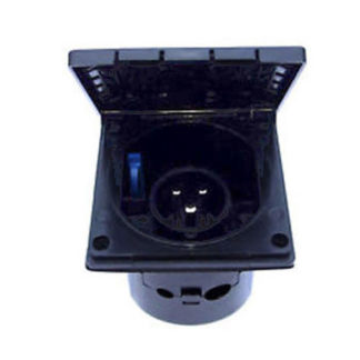 Mains inlet socket - Black