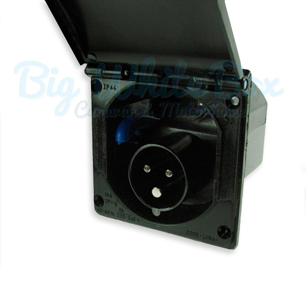 mains hook up inlet socket black big white box. Black Bedroom Furniture Sets. Home Design Ideas