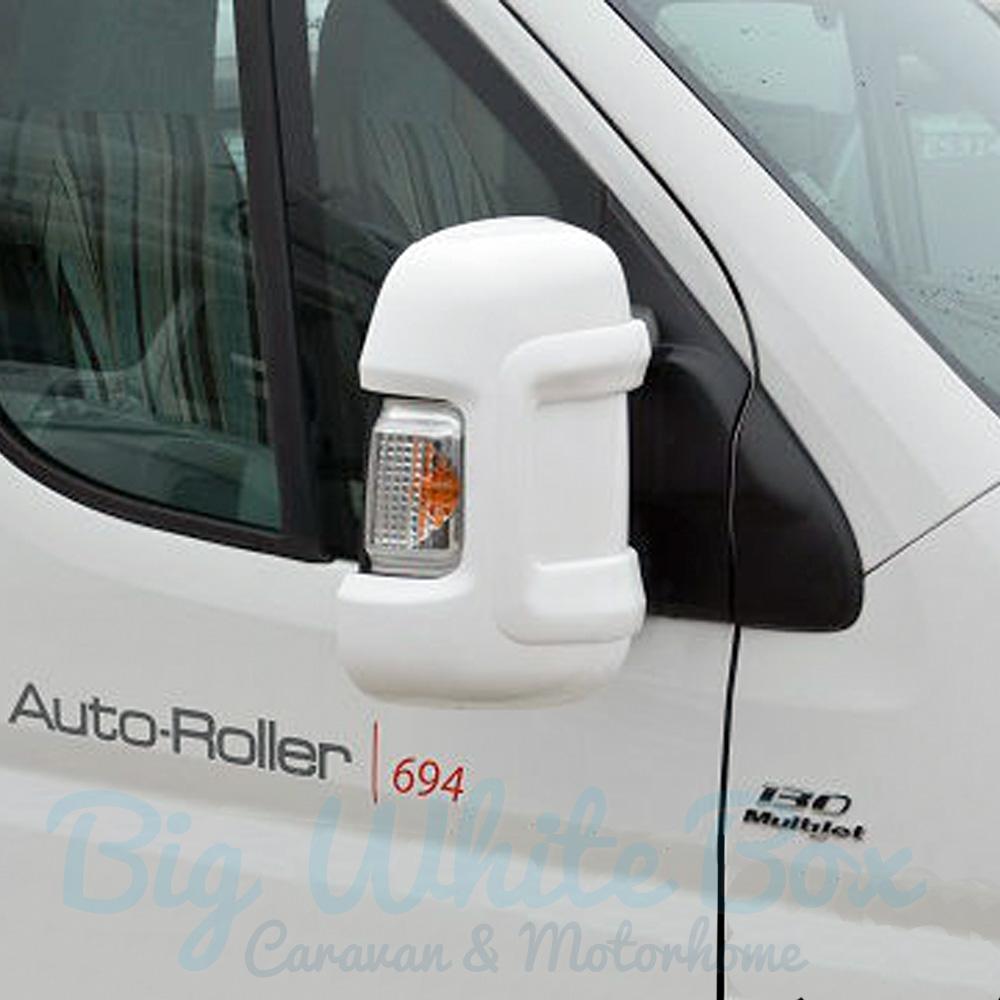 Milenco motorhome mirror protectors white big white box for Big white mirror