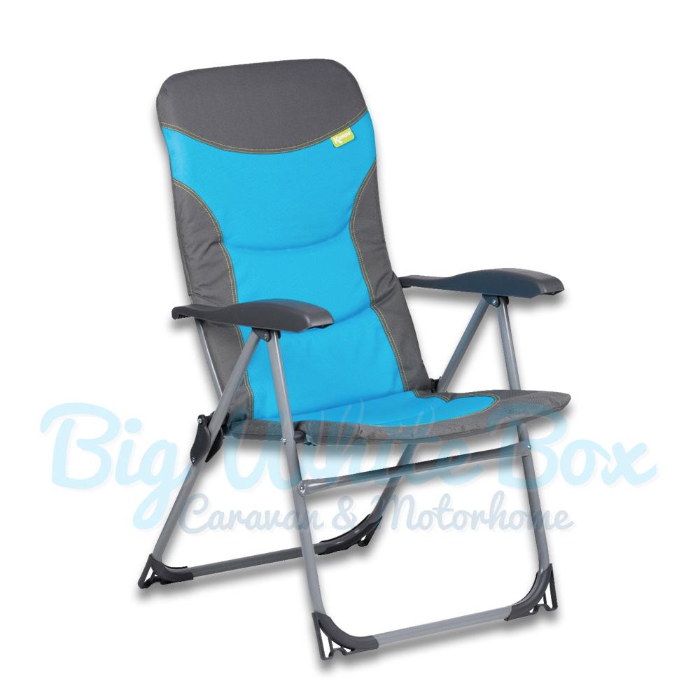 Kampa Skipper Reclining Chair Blue The Caravan