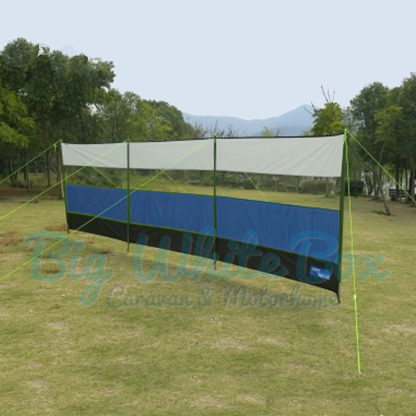 kampa windbreak-blue