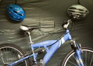 Secure Bike Storage & Campa Cave Storage and Tidy Tent System | The Caravan Accessory Store