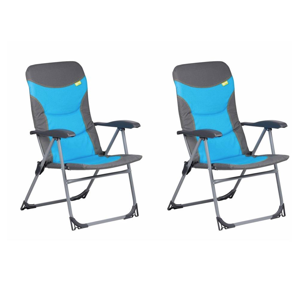 Kampa Skipper Reclining Chairs Blue Pair The Caravan