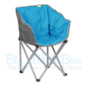 kampa tub folding chair blue