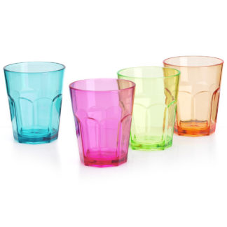 4pk Acrylic Glasses - 12oz