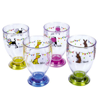 Charlie And Friends Juice Glasses