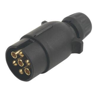 7 Pin Towing Plug - Black
