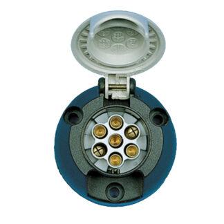 7 Pin Towing Socket - Grey