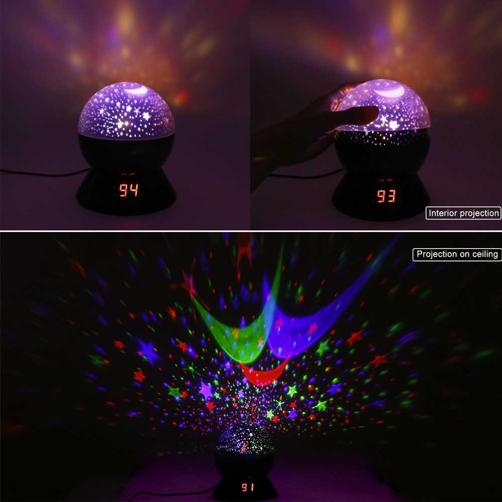Star light projector night light black big white box projector with timer mozeypictures Choice Image