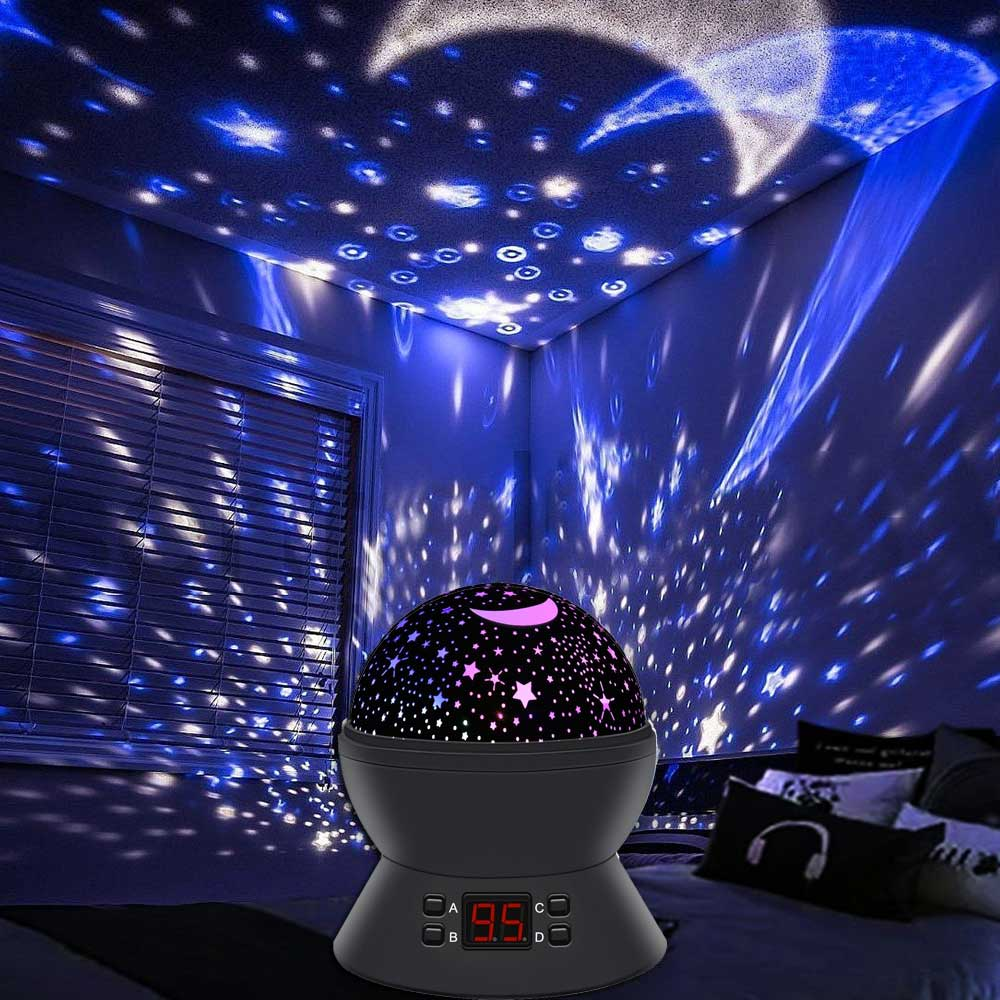 Star light projector night light black the caravan accessory store - Timer night light for toddlers ...