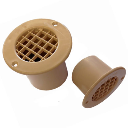 Gas Drop Out Vents Beige 35mm