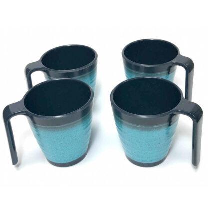 Flamefield Granite Aqua Stacking Mugs Ga423