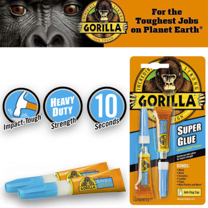 Gorilla Super Glue Pack 2 1250B