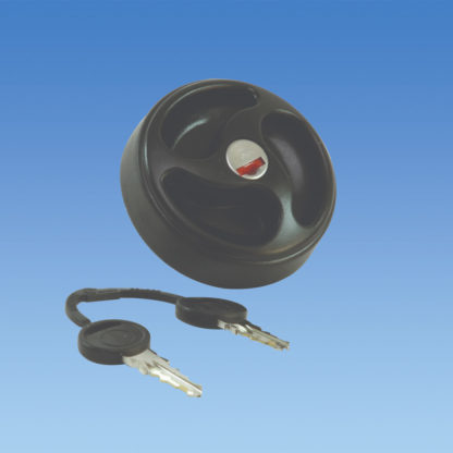 Pennine Lockable Replacement Water Filler Cap Black ES2150