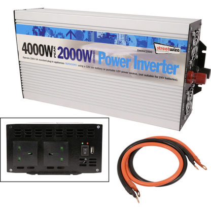 Streetwize 2000w DC to AC POwer Inverter SWINV2000