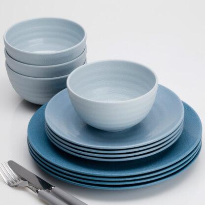 Flamefield Melamine Set Shades Of Blue SB0112