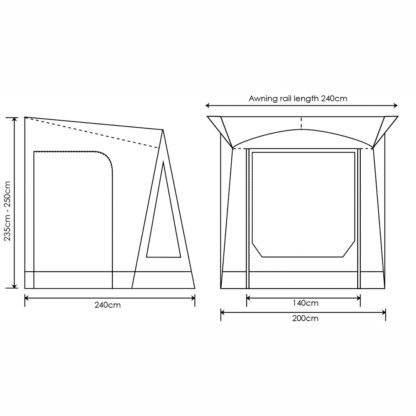 OR Air 200 Porchlite Porch Awning ORBK1030