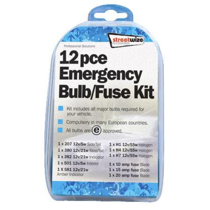 Streetwize Bulb Fuse 12 Piece Kit SWBK1