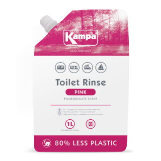 Kampa Pink Toilet Rinse 1 Litre Pouch