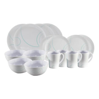 PLS Swirl Melamine 16pc Dining Set ME495