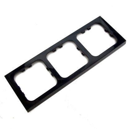 PO328 Black Gloss 3 Way Faceplate